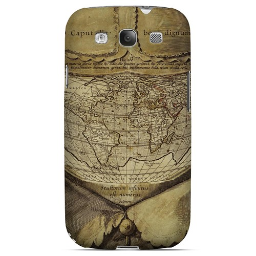 Ancient Map Head - Geeks Designer Line Map Series Matte Case for Samsung Galaxy S3