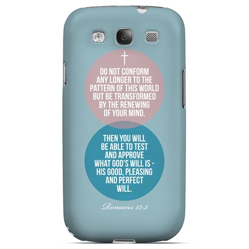 Romans 12:2 - Geeks Designer Line Bible Series Matte Case for Samsung Galaxy S3