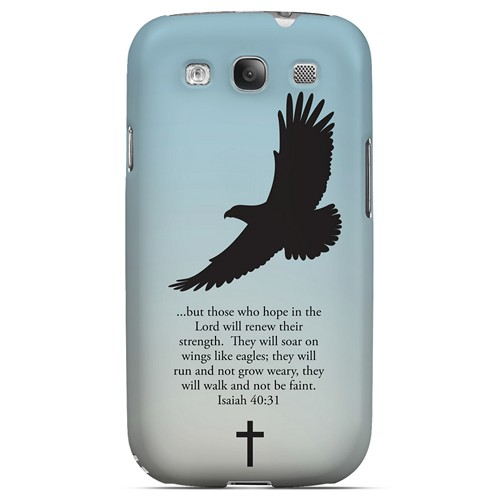 Isaiah 40:31 - Faint Blue - Geeks Designer Line Bible Series Matte Case for Samsung Galaxy S3