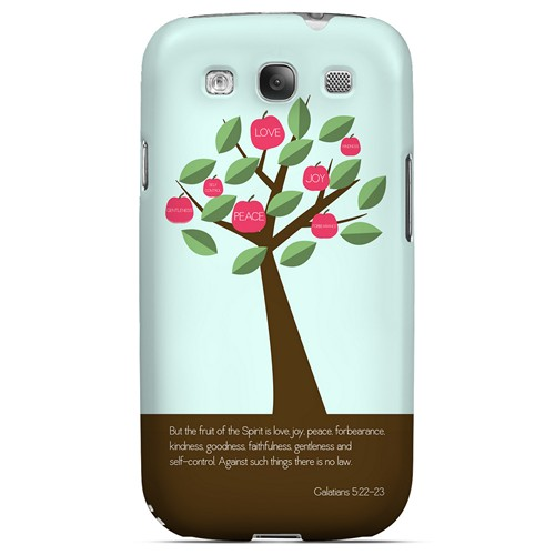Galatians 5:22-23 - Geeks Designer Line Bible Series Matte Case for Samsung Galaxy S3