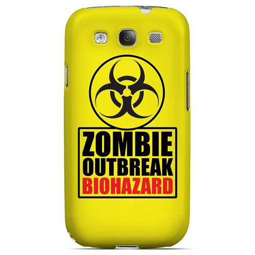 Zombie Outbreak Biohazard - Geeks Designer Line Apocalyptic Series Matte Case for Samsung Galaxy S3