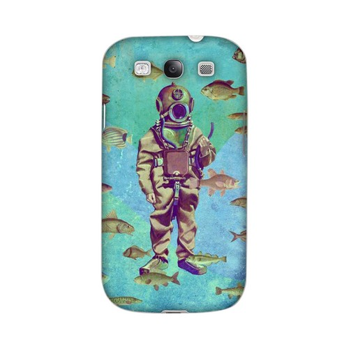 Glossy Bloop Bloop Americana Nostalgia Series GDL Ultra Matte Hard Case for Samsung Galaxy S3 Geeks Designer Line