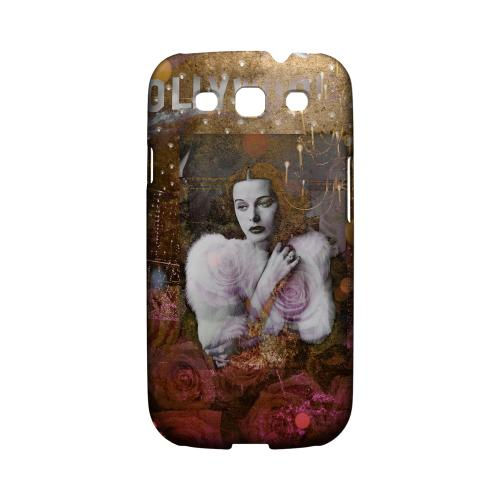 Glossy Hollywood Glam Americana Nostalgia Series GDL Ultra Matte Hard Case for Galaxy S3 Geeks Designer Line