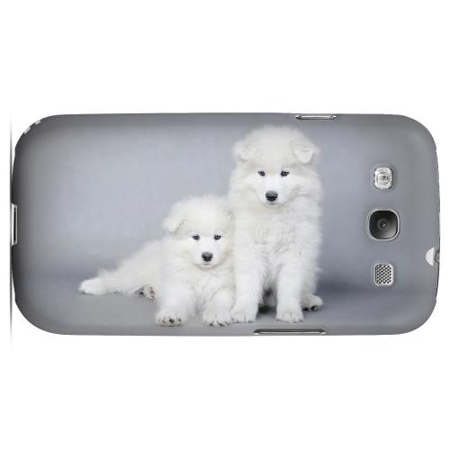 Samoyed Puppies Impact Resistant Geeks Designer Line Matte Hard Case for Samsung Galaxy S3