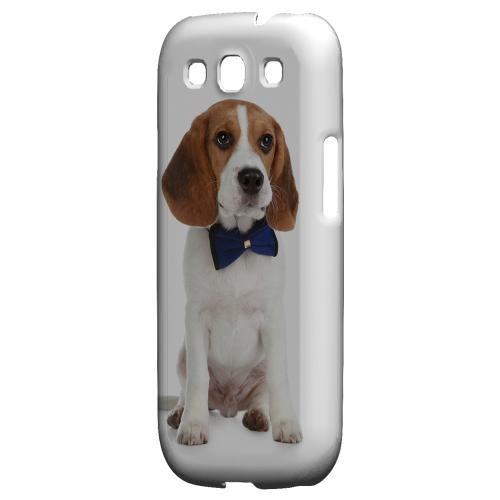 Beagle with Bow Tie Impact Resistant Geeks Designer Line Matte Hard Case for Samsung Galaxy S3