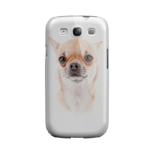Chihuahua Impact Resistant Geeks Designer Line Matte Hard Case for Samsung Galaxy S3