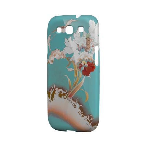 Flower Wave Impact Resistant Geeks Designer Line Asian Print Series Matte Case for Samsung Galaxy S3