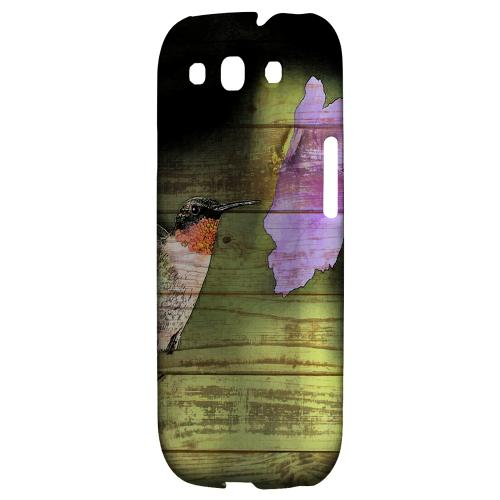 Hummingbird Impact Resistant Geeks Designer Line Asian Print Series Matte Case for Samsung Galaxy S3