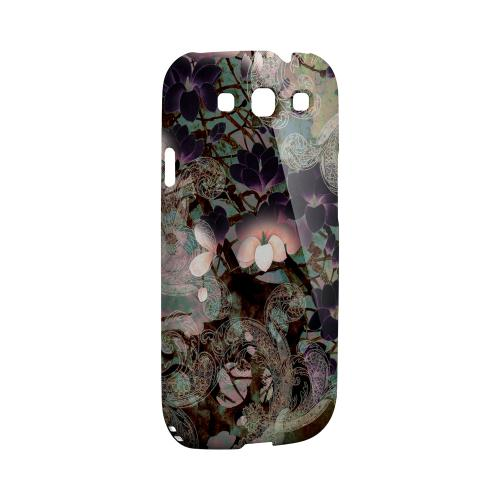 Lacy Flowers Impact Resistant Geeks Designer Line Asian Print Series Matte Case for Samsung Galaxy S3