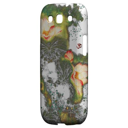 Lotus Flowers Impact Resistant Geeks Designer Line Asian Print Series Matte Case for Samsung Galaxy S3