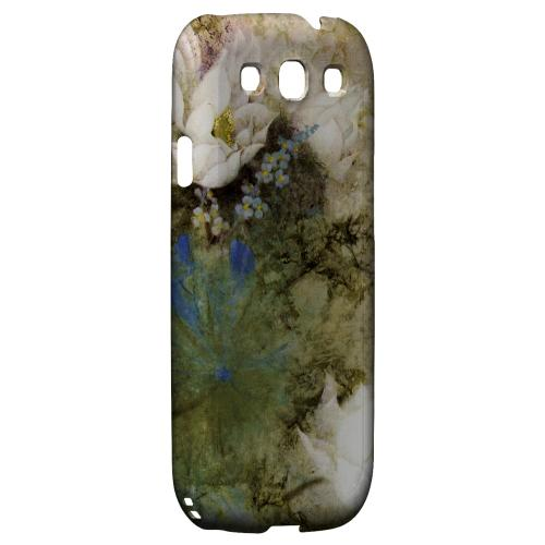 White Lillies Impact Resistant Geeks Designer Line Asian Print Series Matte Case for Samsung Galaxy S3