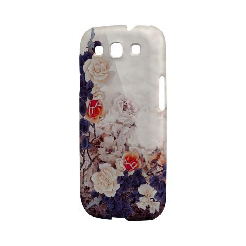 Vintage Roses Impact Resistant Geeks Designer Line Asian Print Series Matte Case for Samsung Galaxy S3