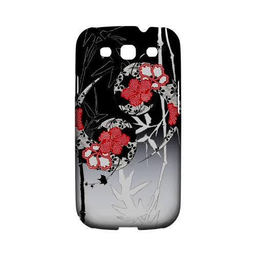 Bamboo Yin Yang Impact Resistant Geeks Designer Line Asian Print Series Matte Case for Samsung Galaxy S3