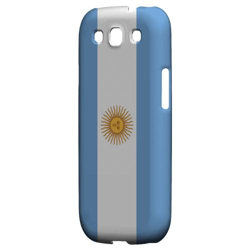 Argentina Geeks Designer Line Flag Series Matte Hard Case for Samsung Galaxy S3