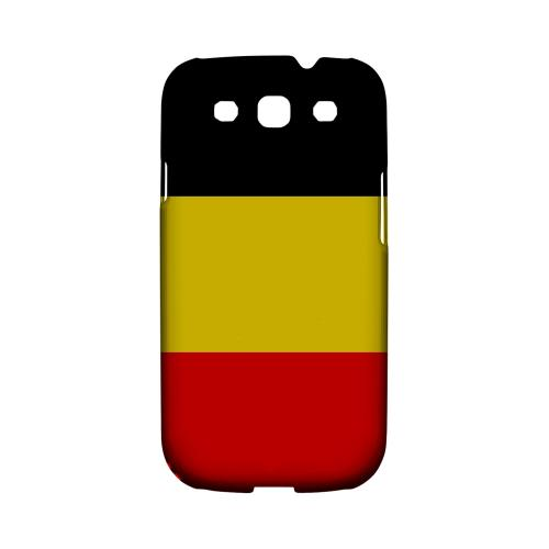 Belgium Geeks Designer Line Flag Series Matte Hard Case for Samsung Galaxy S3