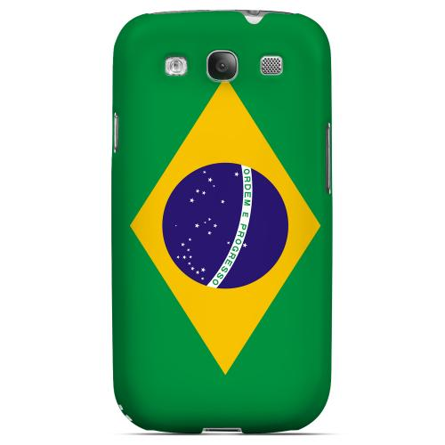 Brazil Geeks Designer Line Flag Series Matte Hard Case for Samsung Galaxy S3