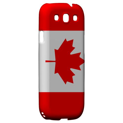 Canada Geeks Designer Line Flag Series Matte Hard Case for Samsung Galaxy S3
