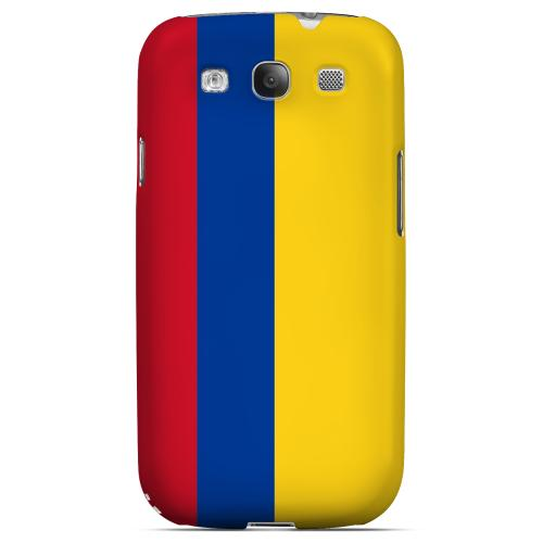 Colombia Geeks Designer Line Flag Series Matte Hard Case for Samsung Galaxy S3