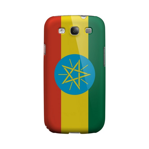Ethiopia Geeks Designer Line Flag Series Matte Hard Case for Samsung Galaxy S3