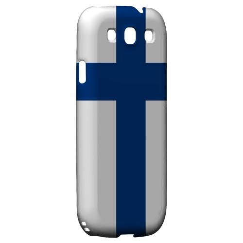 Finland Geeks Designer Line Flag Series Matte Hard Case for Samsung Galaxy S3