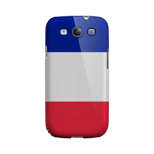 France Geeks Designer Line Flag Series Matte Hard Case for Samsung Galaxy S3