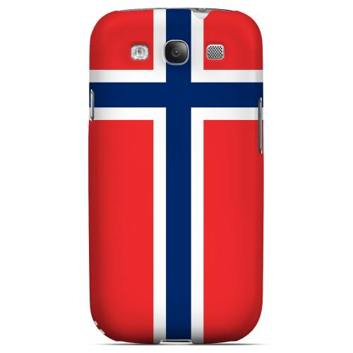 Norway Geeks Designer Line Flag Series Matte Hard Case for Samsung Galaxy S3