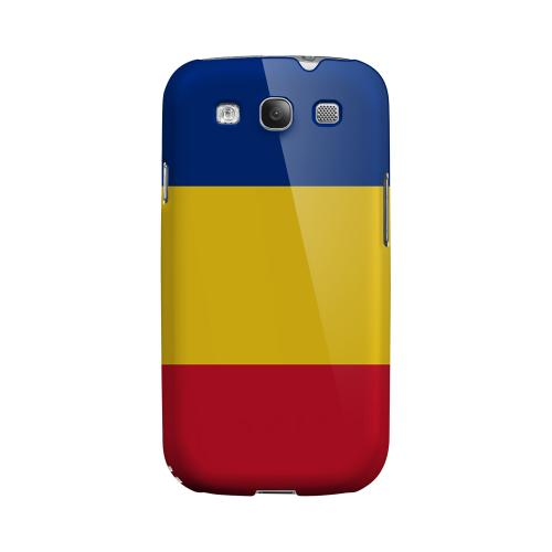 Romania Romania Geeks Designer Line Flag Series Matte Hard Case for Samsung Galaxy S3
