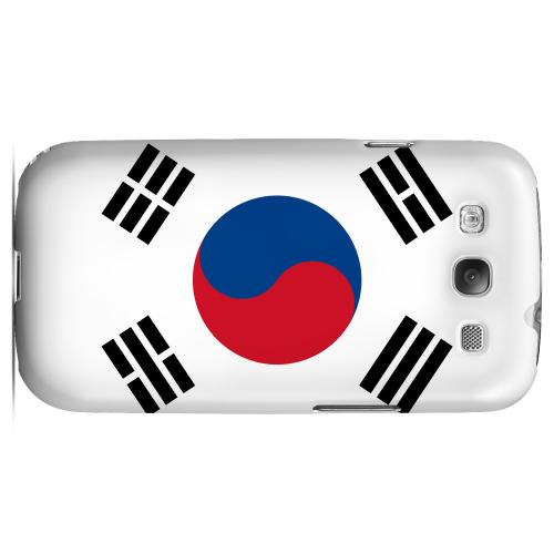 South Korea Geeks Designer Line Flag Series Matte Hard Case for Samsung Galaxy S3