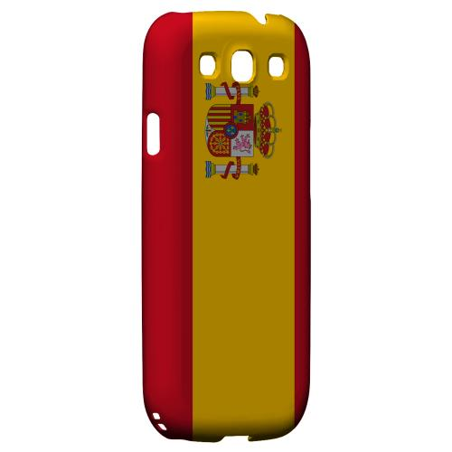 Spain Geeks Designer Line Flag Series Matte Hard Case for Samsung Galaxy S3