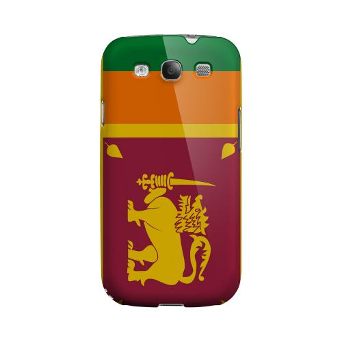 Sri Lanka Geeks Designer Line Flag Series Matte Hard Case for Samsung Galaxy S3