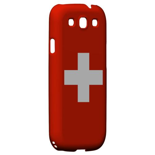 Switzerland Geeks Designer Line Flag Series Matte Hard Case for Samsung Galaxy S3
