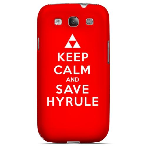 Red Save Hyrule Geeks Designer Line Keep Calm Series Matte Hard Case for Samsung Galaxy S3