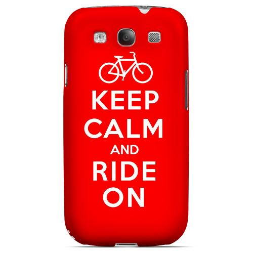 Red Ride On Geeks Designer Line Keep Calm Series Matte Hard Case for Samsung Galaxy S3