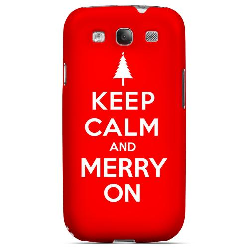 Red Merry On Geeks Designer Line Keep Calm Series Matte Hard Case for Samsung Galaxy S3