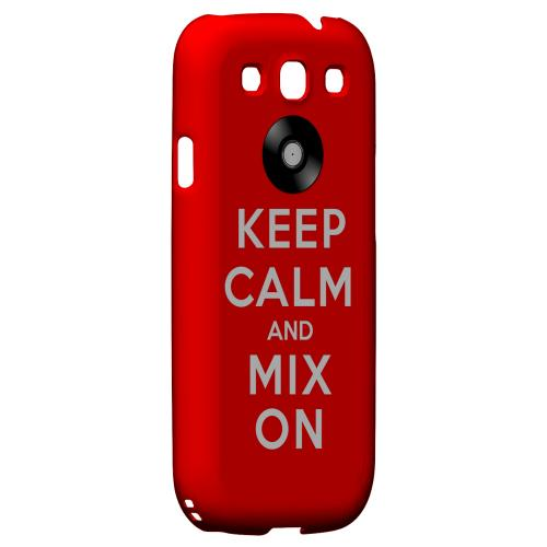 Red Mix On Geeks Designer Line Keep Calm Series Matte Hard Case for Samsung Galaxy S3