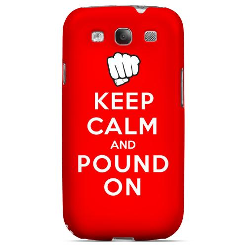 Red Pound On Geeks Designer Line Keep Calm Series Matte Hard Case for Samsung Galaxy S3