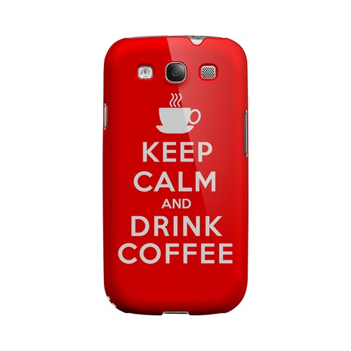 Red Drink Coffee Geeks Designer Line Keep Calm Series Matte Hard Case for Samsung Galaxy S3