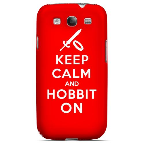 Red Hobbit On Geeks Designer Line Keep Calm Series Matte Hard Case for Samsung Galaxy S3