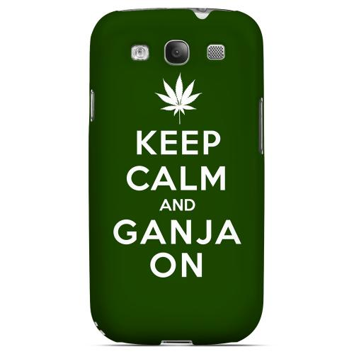 Green Ganja On Geeks Designer Line Keep Calm Series Matte Hard Case for Samsung Galaxy S3
