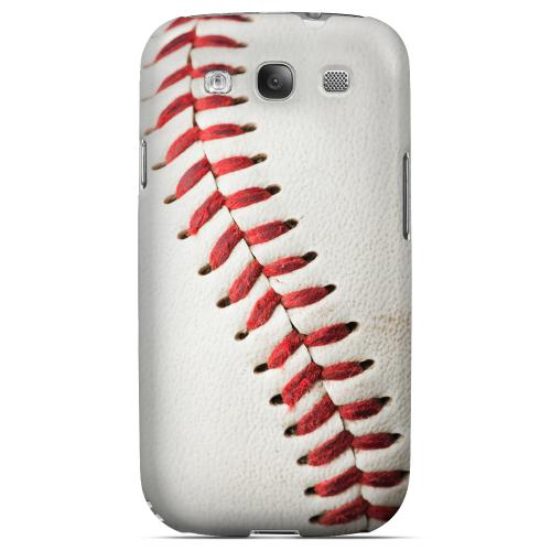 Close Up Baseball Design Geeks Designer Line Sports Series Matte Hard Case for Samsung Galaxy S3