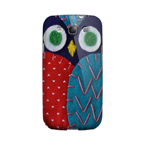 Dark Blue/ Red Owl Geeks Designer Line Sports Series Matte Hard Case for Samsung Galaxy S3