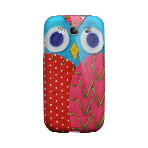 Sky Blue/ Pink Owl Geeks Designer Line Sports Series Matte Hard Case for Samsung Galaxy S3