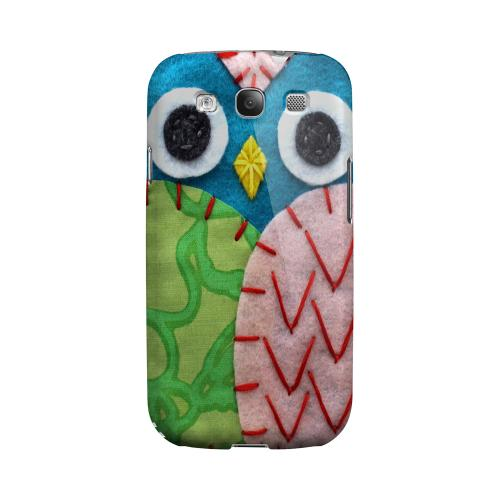 Blue/ Green Owl Geeks Designer Line Sports Series Matte Hard Case for Samsung Galaxy S3