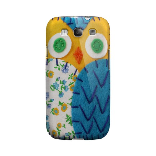 Gold/ Blue Owl Geek Nation Program Exclusive Jodie Rackley Series Hard Case for Samsung Galaxy S3