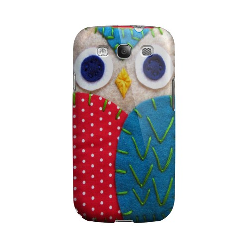 White/ Blue Owl Geek Nation Program Exclusive Jodie Rackley Series Hard Case for Samsung Galaxy S3
