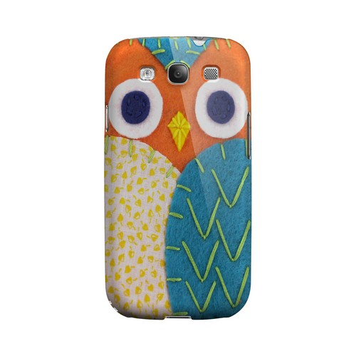 Orange/ Blue Owl Geek Nation Program Exclusive Jodie Rackley Series Hard Case for Samsung Galaxy S3