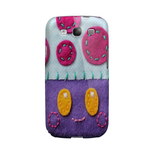 Purple/ Pink Mushroom Geek Nation Program Exclusive Jodie Rackley Series Hard Case for Samsung Galaxy S3
