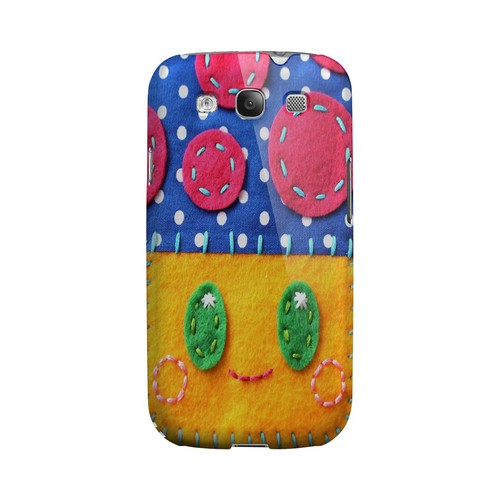 Blue/ Yellow Mushroom Geek Nation Program Exclusive Jodie Rackley Series Hard Case for Samsung Galaxy S3
