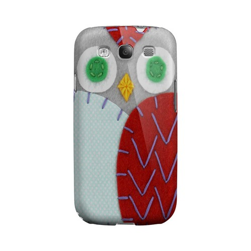 Gray/ Red Owl Geek Nation Program Exclusive Jodie Rackley Series Hard Case for Samsung Galaxy S3