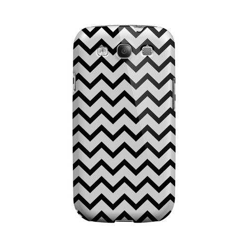Black on White Geeks Designer Line Zig Zag Series Matte Hard Case for Samsung Galaxy S3